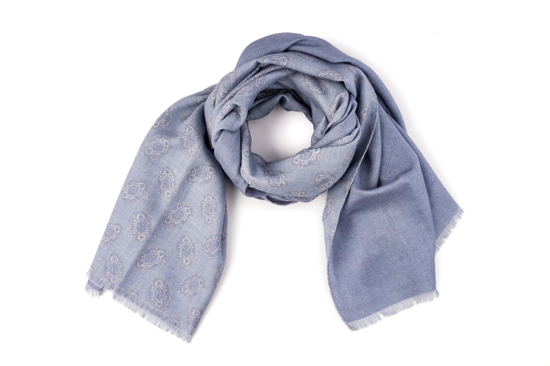 sciarpa artigianale lana seta blue