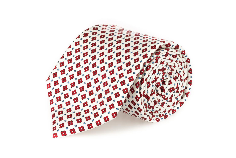 cravatte sette pieghe primavera estate 2020 bianco fiori rossi