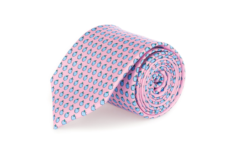 cravatte sette pieghe primavera estate 2020 rosa con mele
