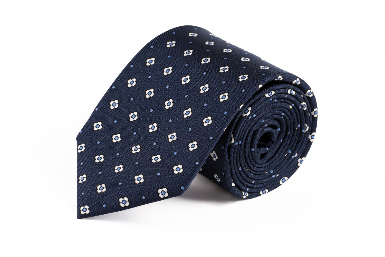 cravatte settepieghe autunno inverno estate blu con fiori