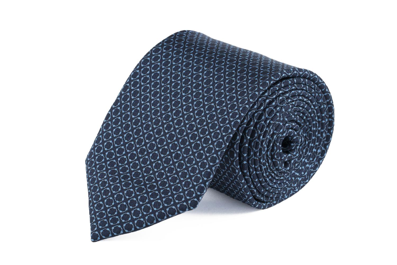 cravatta sette pieghe artigianale seta blu